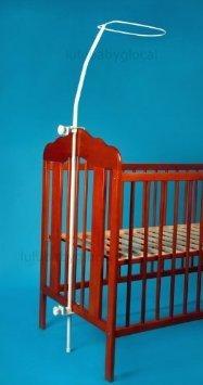 Himmelstange für Baby Kinderbett Bett inkl. Befestigung Himmelhalter zum Klemmen