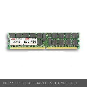 (DMS Compatible/Replacement for HP Inc. 345113-551 Workstation xw6200 1GB DMS Certified Memory DDR2-400 (PC2-3200) 128x72 CL3 1.8v 240 Pin ECC/Reg. DIMM (128x4) Single Rank V)