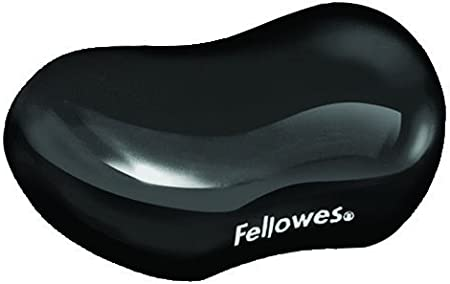 Fellowes Gel Crystals - Reposamuñecas flexible, negro