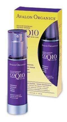 Avalon Organics CoQ10 Repair Wrinkle Defense Night Creme, 1.75-Ounce Bottle (Cream Wrinkle Defense Coq10 Night)