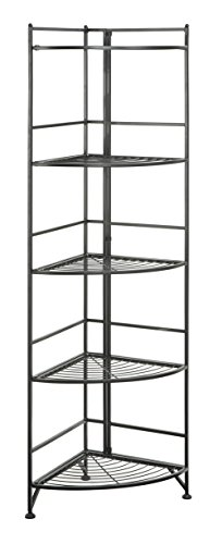 Review Convenience Concepts Designs2Go X-Tra Storage 5-Tier Folding Metal Corner Shelf, By Convenience Concepts by Convenience Concepts