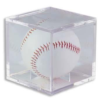 - Ultra Pro DR-700394356 (1) One, Ultra-PRO Baseball Cube Holder, Ultra PRO's Baseball Holder is the top of the line Protector & the best way to display & protect Baseballs. No PVC & Acid Free so it will not damage Balls or Autographs, Clear