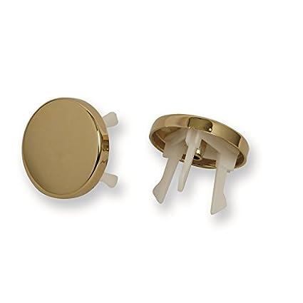 Acquastilla, 116799 - Embellecedor dorado para rebosadero de lavabo