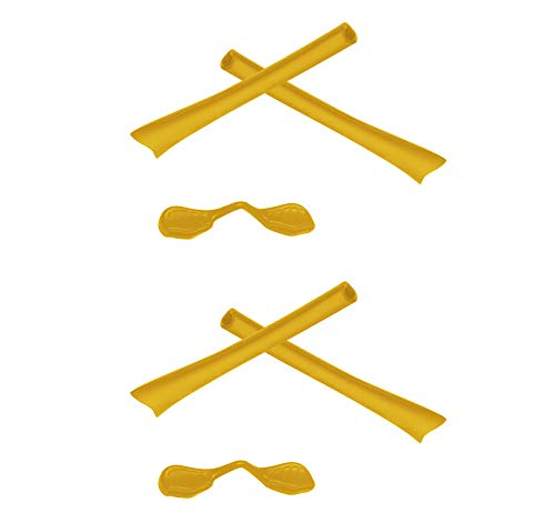 2 Pair Yellow Replacement Earsocks & Nosepieces Kits for Oakley Radar - Nosepiece Yellow