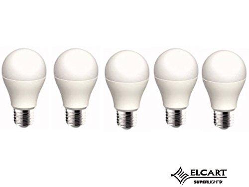 bombilla LED A + + paquete 5 bombillas E27 8 W equivalentes A 60 W ...