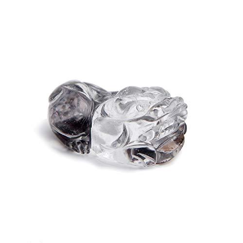 LiZiFang Genuine Natural Red Phantom Quartz Crystal Pi Xiu Bead Pendant