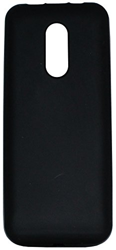 Finishes 105 (FCS Rubberized Silicon Back Case For Nokia 105 Dual Sim In Matte Finish-Black)
