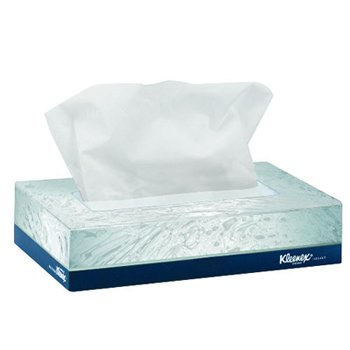 Kimberly-Clark 21195 White Kleenex Facial Junior Tissue, 68 Sheet, 8.4'' L x 5.5'' W (Pack of 48)