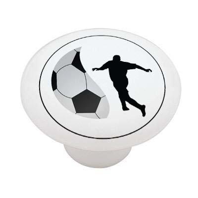 (Soccer Player Ceramic Drawer Knob)