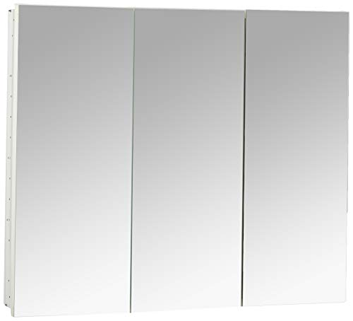 Robern PLM3630W PL Series Flat Top Cabinet, 36-Inch W by 30-Inch H by 3-3/4-Inch D, White Interior from Robern