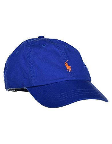 Polo Ralph Lauren Mens Embroidered Logo Ball Cap (One Size, Pure Sapphire}