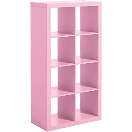 Modern Eight Square Cubbies Pink Closet Storage Unit With Cubes Shelves  Cabinet Shoe Organizer Space Saver