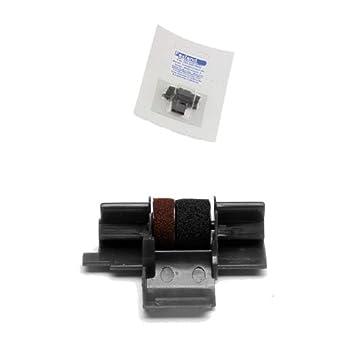 für Casio HR 200 TER Gr.745 Farbbandfabrik Original Farbrolle schwarz//rot