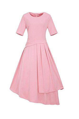 Pink Del De Una Mujeres De Tamaño De Mas Vestido Linea Swing L Yacun Fiesta Trabajo Ow0TqEx