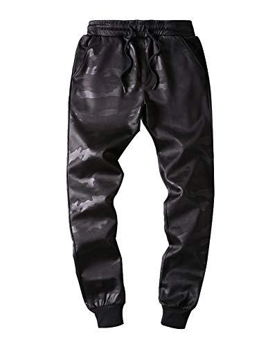 Fit Lunghi Pantalone Jogging Vita Bassa Cargo Sportivi Coulisse Tasche Nero Da Laterali Elasticità Casual Slim Pantaloni Uomo Chino CrxdshtQ