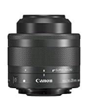 Canon Objektiv EF-M 28mm F3.5 macro IS STM für EOS M (Festbrennweite, 43mm filtergewinde, Hybrid IS), schwarz