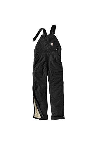 (Carhartt Men's FR Duck Bib Lined Overall, Black, 38W X 28L)