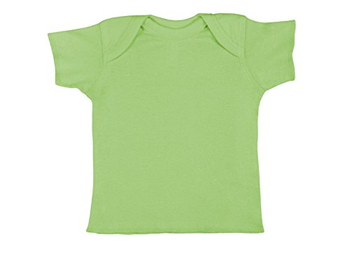 Rabbit Skins 100% Cotton Infant Baby Rib Tee [Size Newborn] Key Lime Green Short Sleeve T-Shirt