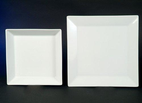 Tafel 6 Personen : Quadrat weiss tafel service 12 teilig neu eckig porzellan geschirr