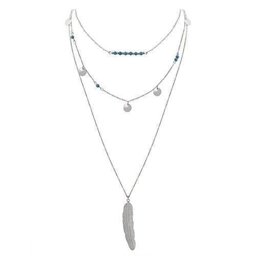 Jane Stone Necklace Simulated Turquoise product image