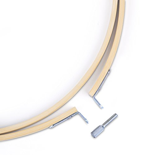 Caydo 4 Pieces Embroidery Hoop Set Bamboo Circle Cross Stitch Hoop Ring - Buy Online In UAE ...