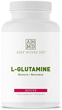 L-Glutamine Capsules from The Myers Way Protocol - Helps Beat Sugar Cravings & Support Healthy Weight Loss - Dietary Supplement, 120 Capsules 850 mg per Capsule - from Dr. Amy Myers