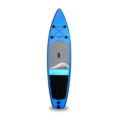Tyueliang-Outdoor-Sports-Paddle-Board-Kit-Leichte-Antirutsch-Adult-SUP-Up-Paddle-Board-mit-Paddle-Stand-Leine-Back-Pack-Anfnger-Surf-Kit-Color-Blue-Double-Layer-Size-350x81x15cm
