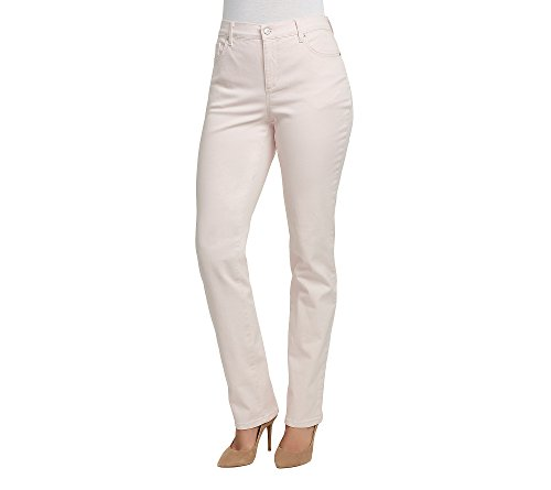 Gloria Vanderbilt Amanda Colored Straight Leg Denim Jeans Pink Dogwood 16 (Denim Pink Stretch)