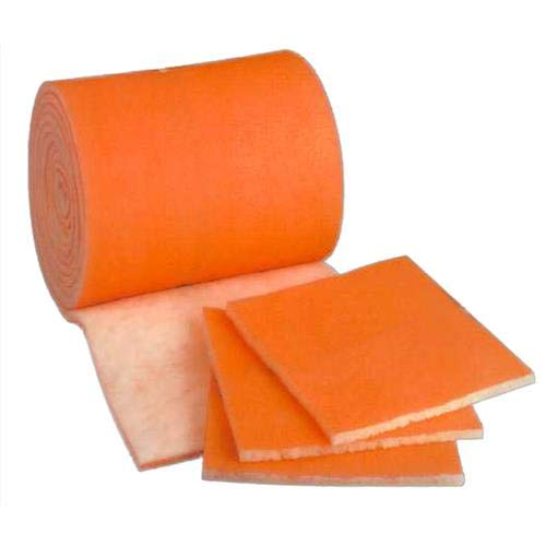 Furnace / Air Handler / HVAC Air Filter Media Roll , Orange / White MERV8 Polyester Media - 1 inch x 25 inch x 5 foot - Cut to Size