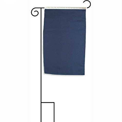 ALBATROS 12 inch x 18 inch Solid Navy Blue Sleeved with Garden Stand Flag for Home and Parades, Official Party, All Weather Indoors ()
