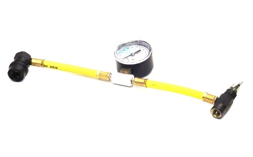 Car Aircon Air Con Conditioning Recharge Gas Regas DIY Tool Hose Pipe With Gauge AirconTopup.com