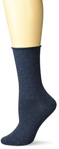(K. Bell Women's Relaxed Top Novelty Crew Socks, denim heather, Shoe Size:)