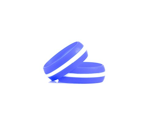 Lucky Rings Striped Silicone Wedding