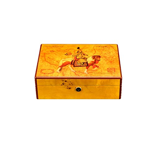 $154.66 cuban crafters humidor WENPINHUI Cigar Box, Painted Cigar Humidor, Vintage Cigar Collection Humidor – The Best Gift (Color : A) 2019