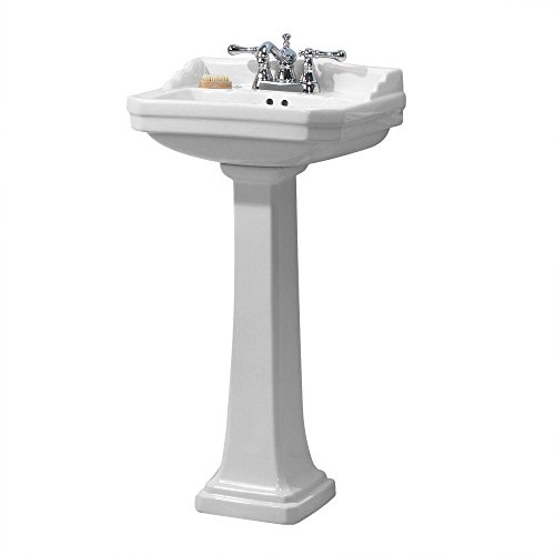 - Foremost Series 1920 FL-1920-4W Pedestal Combo Bathroom Sink, White