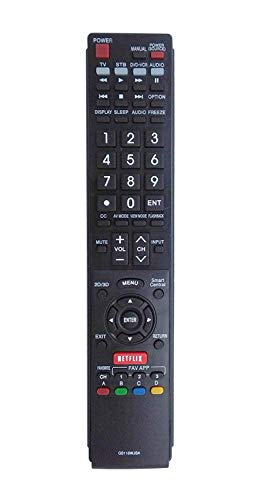 econtrolly New Lost Replaced Remote GB118WJSA for Sharp AQUOS TV LC70LE745U LC70LE845U LC70LE8470U LC70LE847U LC70UD1U LC70UD1U LC80LE632U LC80LE632U LC80LE633U LC80LE633U LC80LE657U LC80LE844U (Aquos Tv Sharp)