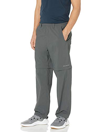 Columbia Men's Backcast Convertible Pant, Grill, X-Large x 32' Inseam