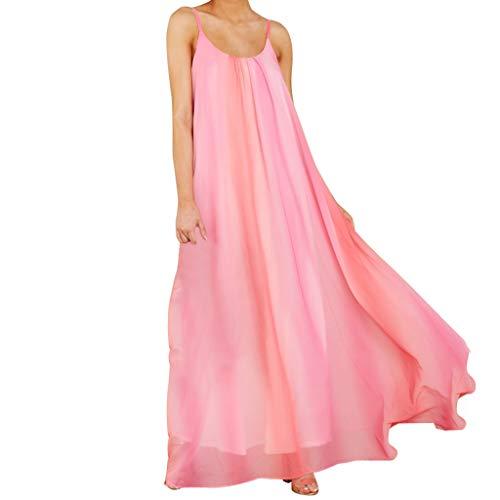 - Caopixx Women's Summer Dress Sleeveless Striped Flowy O-Neck Casual Long Maxi Dress