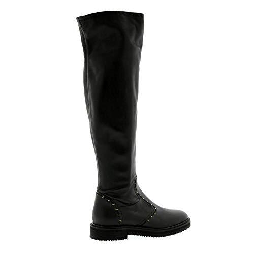 - Giuseppe Zanotti Design Black Stretch Nappa Over The Knee Platform Boot