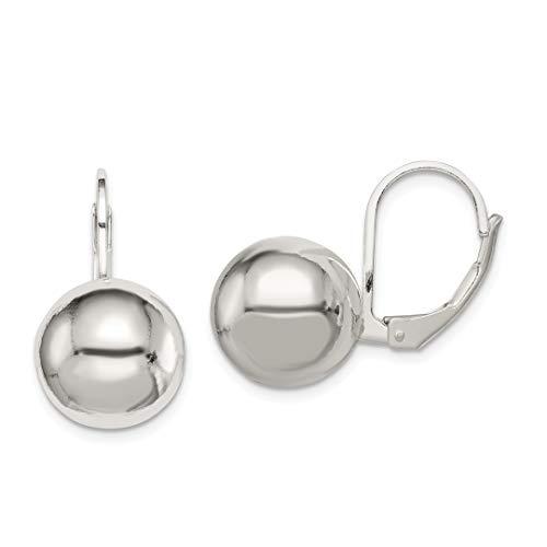 (925 Sterling Silver 12mm Drop Dangle Chandelier Ball Leverback Earrings Lever Back Fine Jewelry Gifts For Women For Her)