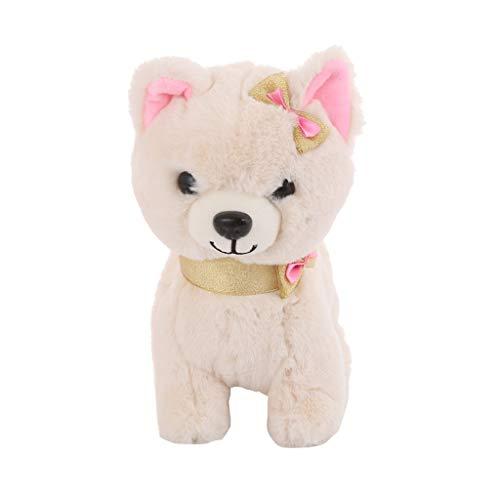 ERLOU Educational Toy Children Cute Electric Walking Dog Plush Toys Battery Powered Stuffed Animal Kids Toy Boys Girls Gifts (Yellow)]()