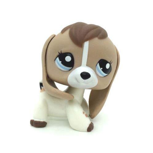 Littlest pet Shop LPS #2207 Tan White Beige Brown Beagle Dog Puppy Blue Eyes
