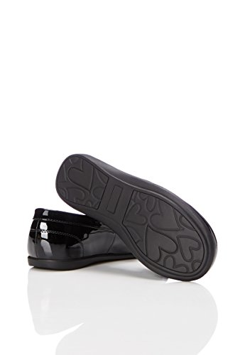RED WAGON Mädchen Loafers in Lack-Optik Schwarz (Black Patent)