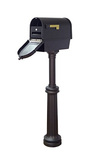 Special Lite Products Company Berkshire Curbside Mailbox With Newspaper Tube, Front Address Numbers, Locking Insert And Bradford Mailbox ()