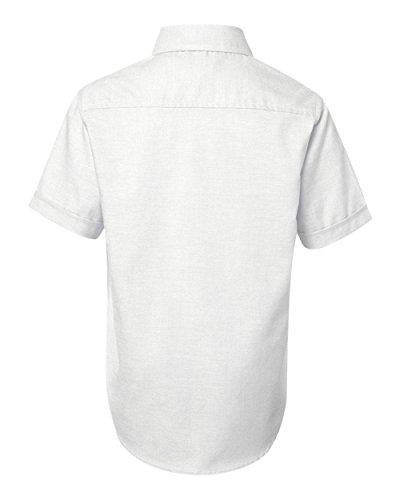 French Toast Little Boys' Short Sleeve Oxford Dress Shirt, White, 6