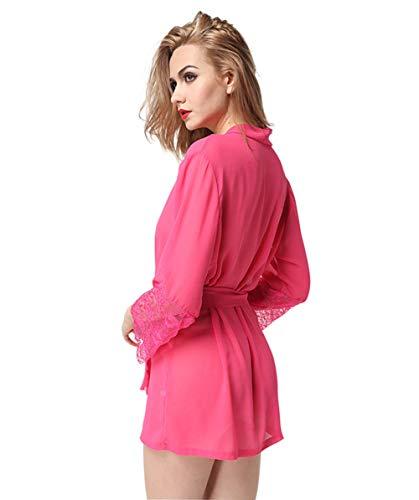 In Garza Di Trasparente Vestaglia Vestaglia Hxp In Pink Garza qZ0IwqE
