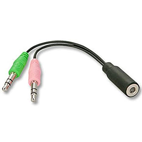 LINDY Adattatore per cuffie con microfono 2 x Mini Jack Maschio a 1 x Mini  Jack be5d21f8f60a