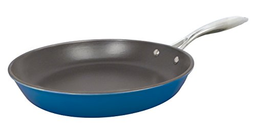 - Le Cuistot Enameled Cast-Iron 11 inch Skillet - 2 Tone Blue