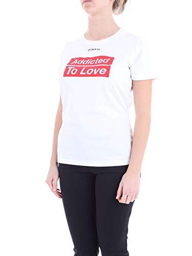 Cotone 1g13ydy5bdz10 Donna Bianco T shirt Pinko zqIFvF