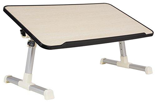 VIVO Height Adjustable Tilting Laptop Workstation Bed Tray, Folding Portable Book Table Stand (DESK-L-V020) by VIVO